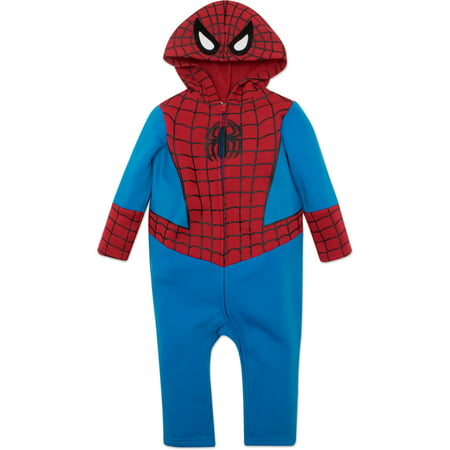 Marvel Spiderman Toddler Costume Coverall with Hood](Spiderman Costumes For Toddlers)
