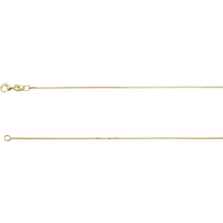 "18K Yellow Vermeil Diamond Cut Box 16"" Chain"