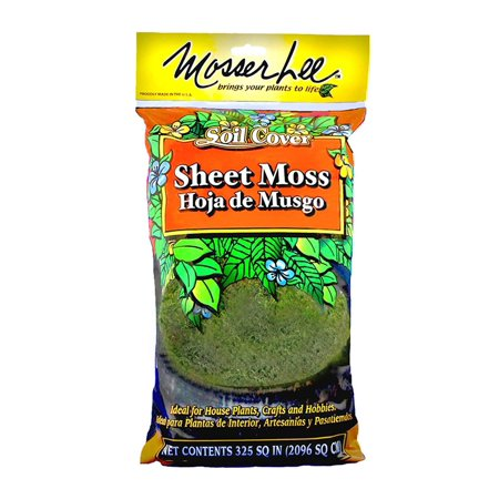ML0460 Natural Green Sheet Moss, 325 sq. in., Covers soil for interior plants By Mosser