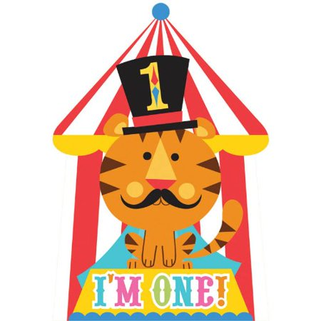 Fisher Price Circus 1st Birthday Invitations (8) Invites Birthday Party Supplies - Tea Party Invites