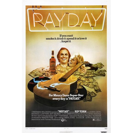 Payday 2 Halloween Poster (Payday Us Poster From Left Rip Torn Ahna Capri 1973 Movie Poster)