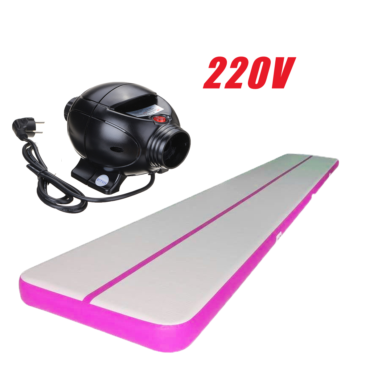 Inflatable Balance Air Track Floor Pad Gymnastics Tumbling Yoga Mat Exercise Practice Training Jumping Pad with 110V/220V Pump,Home Use,Outdoor