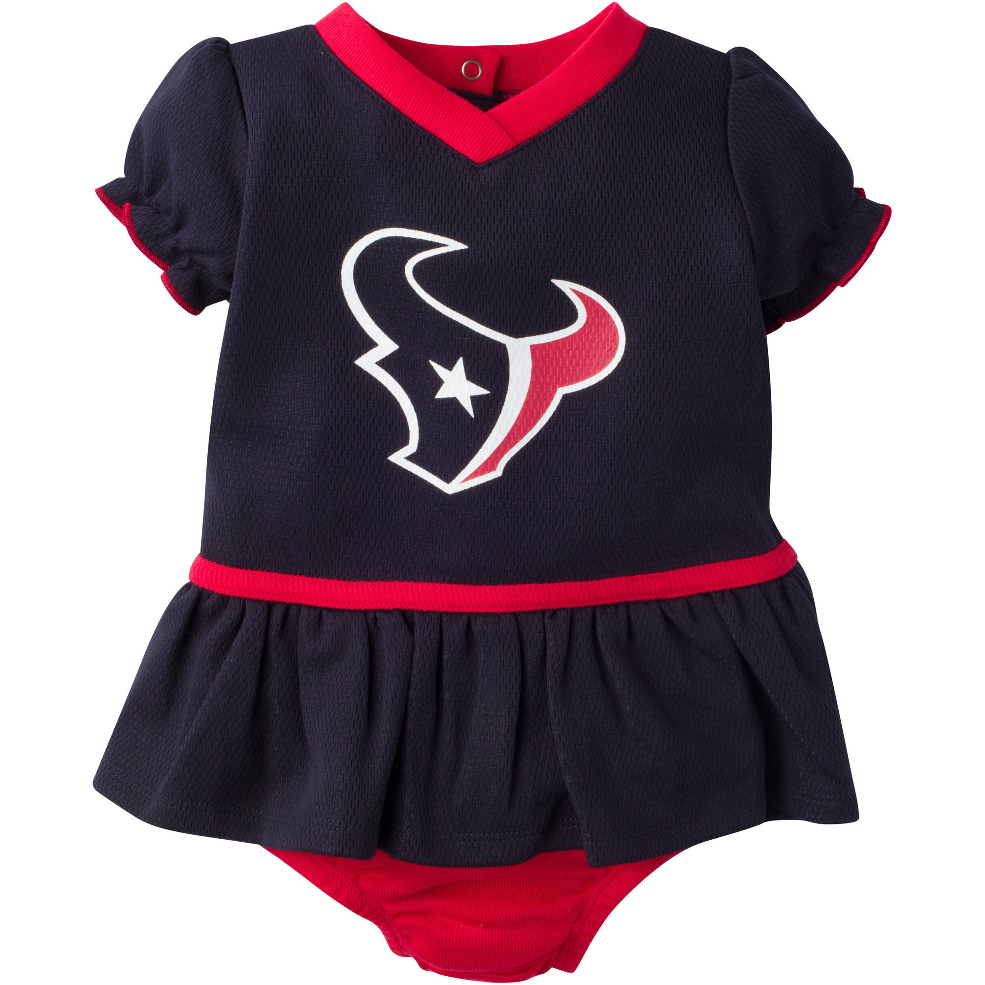NFL Houston Texans Baby Girls Mesh Dazzle Dress and Panty Set, 2-Piece