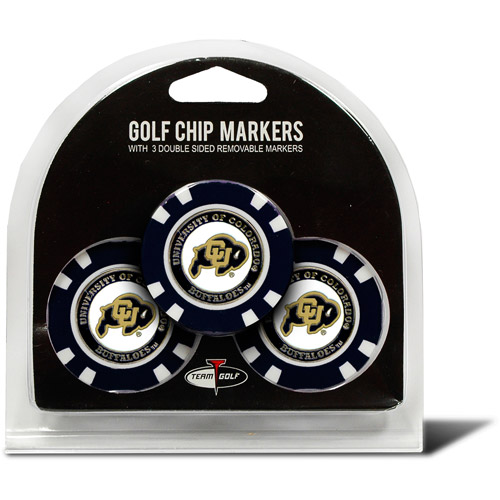 Team Golf NCAA Colorado 3 Pack Golf Chip Ball Markers