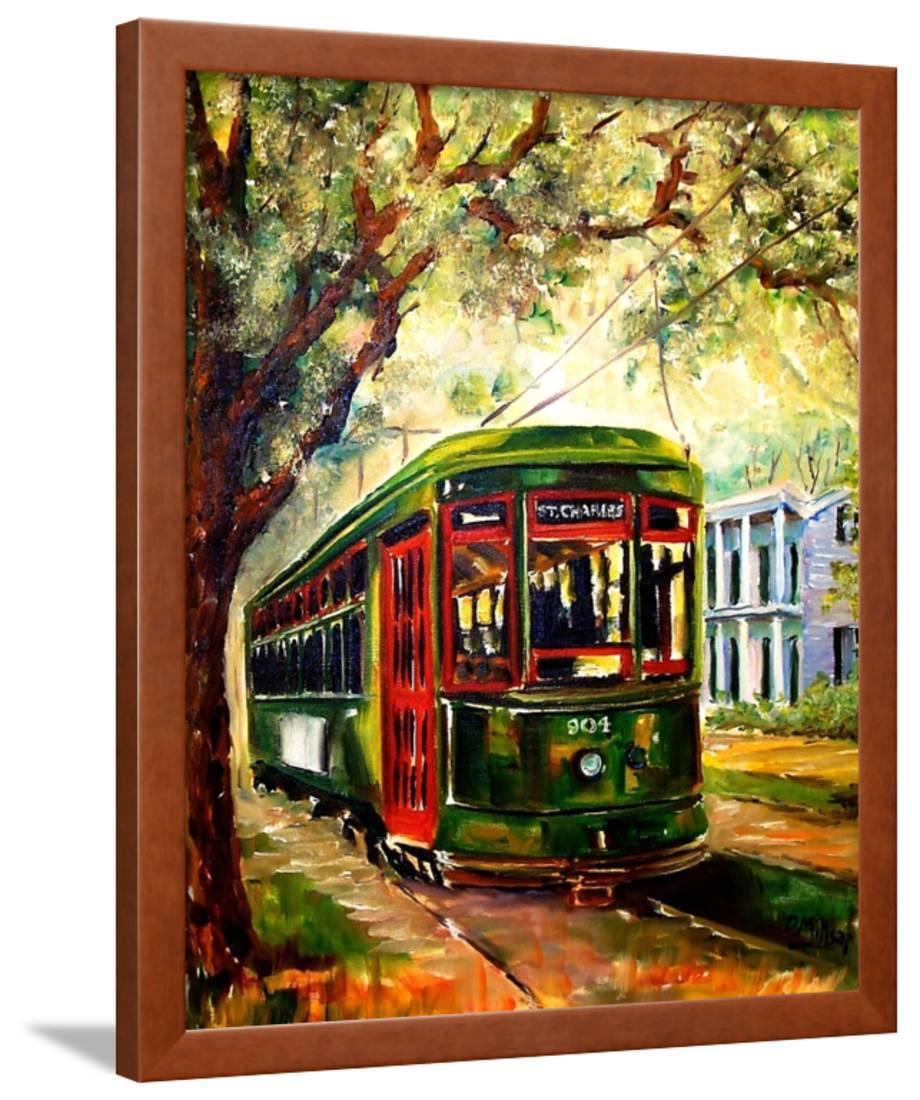 New Orleans St Charles Streetcar Framed Print Wall Art By Diane Millsap Walmart Com Walmart Com