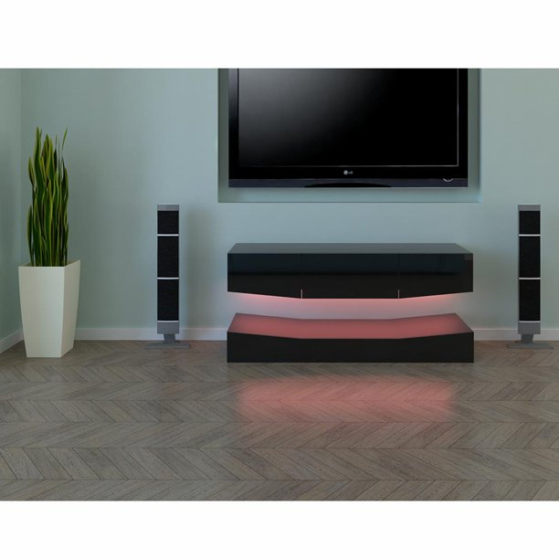 UBesGoo LED Light TV Cabinet ,Wall Mount TV Stand Cabinet for TV