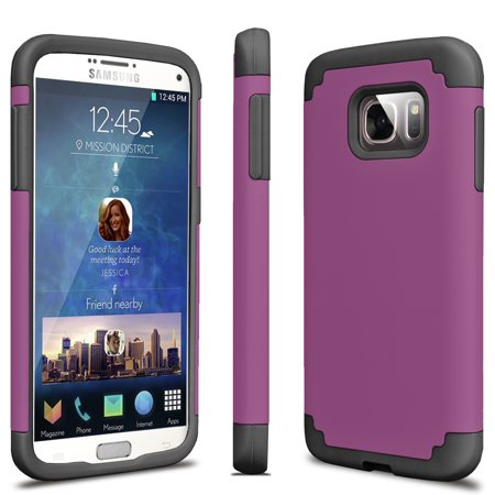 Galaxy S7 Case, Tekcoo [Tbaron Series] Shock Absorbing Hybrid Rubber Plastic Impact Defender Rugged Slim Hard Case Cover Shell For Samsung Galaxy S7 S VII G930 GS7 All