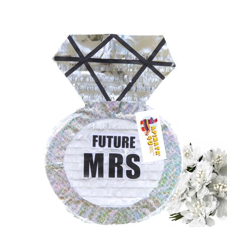 FUTURE MRS Diamond Ring Piñata Bridal Shower Wedding Party Favor Card Holder ()