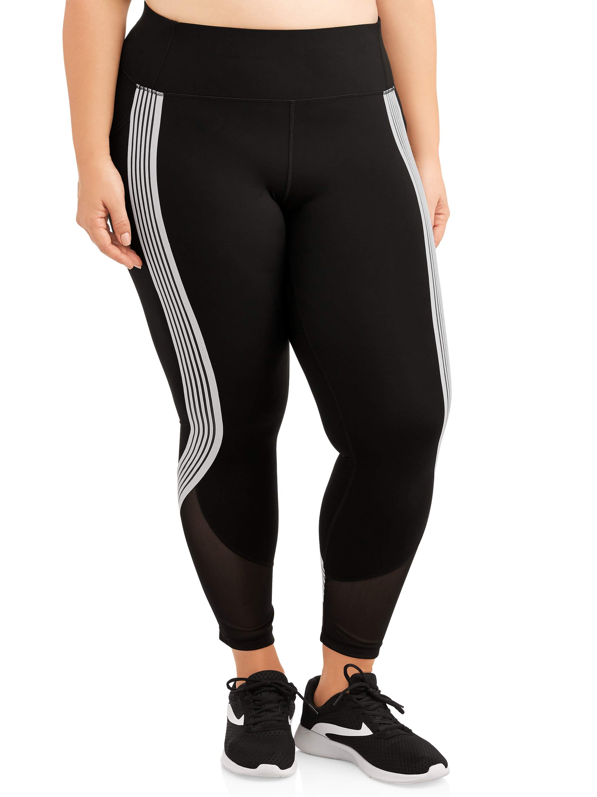 Women's Plus Size Active Stripe It Up Performance Crop Legging