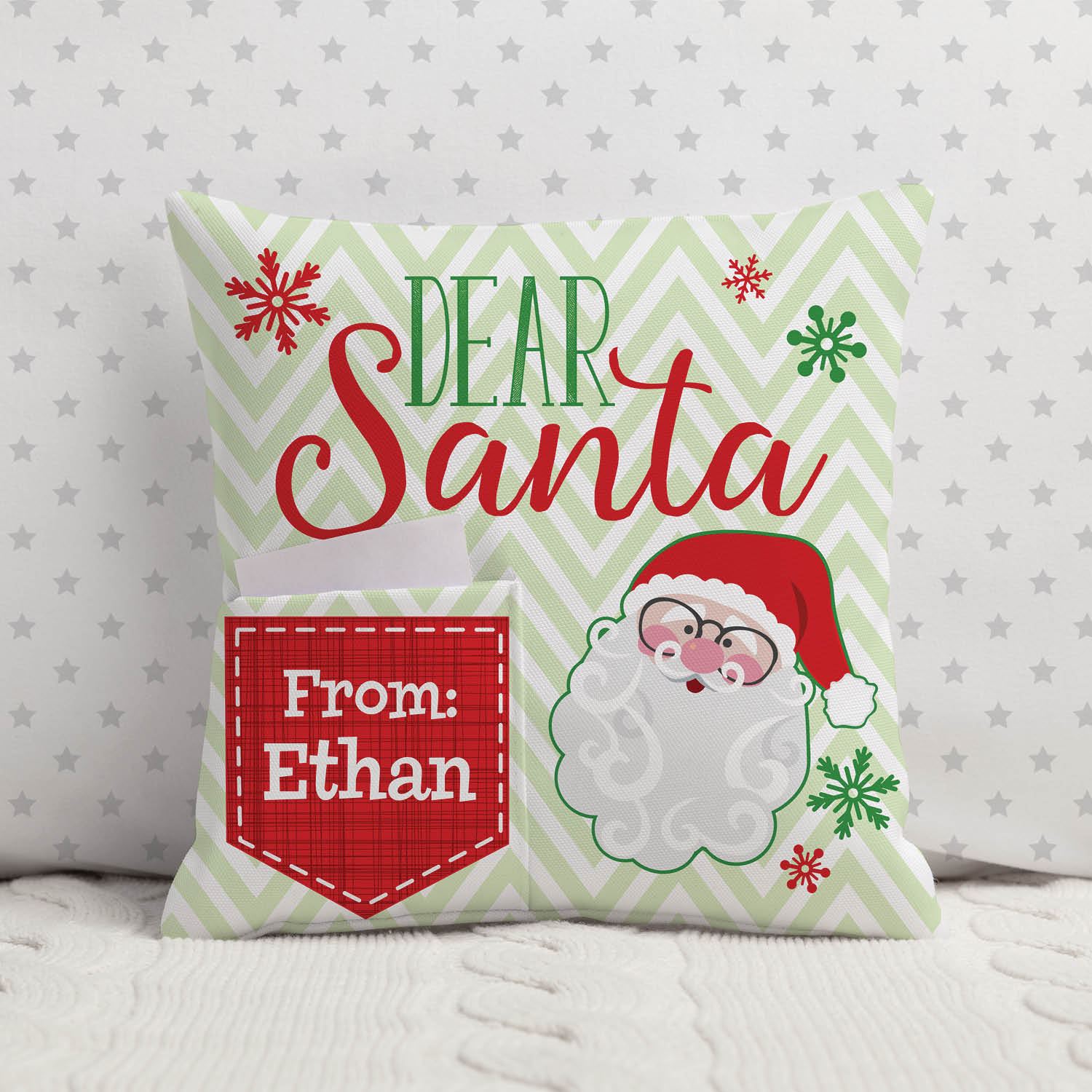 Letter For Santa Personalized Pillow