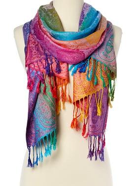 Purple Scarfs for Women Winter Fashion Women's Silk Scarf Luxury Satin Shawl Wraps Lightweight Purple Scarves by Goood Times