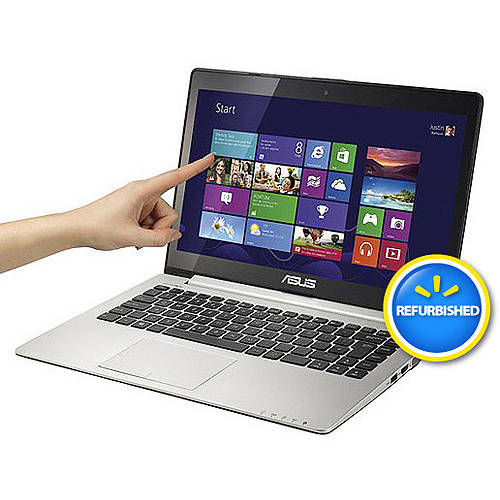 "Asus Refurbished Silver 13.3"" VivoBook S300ca-BBI5T01 Laptop PC with Intel Core i5-3337U Processor, 4GB Memory, Touchscreen, 500GB Hard Drive and Windows 8"