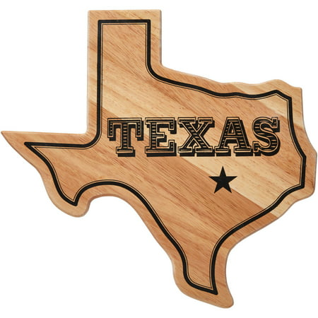Farberware Texas State Shaped Rubber Wood Cutting Board