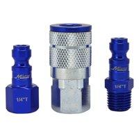 """ColorFit Coupler & Plug Kit (3 Piece), T-Style 1/4"""" NPT Blue"""