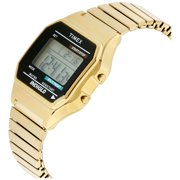 03309c1ff Timex Men's Classic Digital Watch, Gold-Tone Stainless Steel Expansion Band  Image 2 of