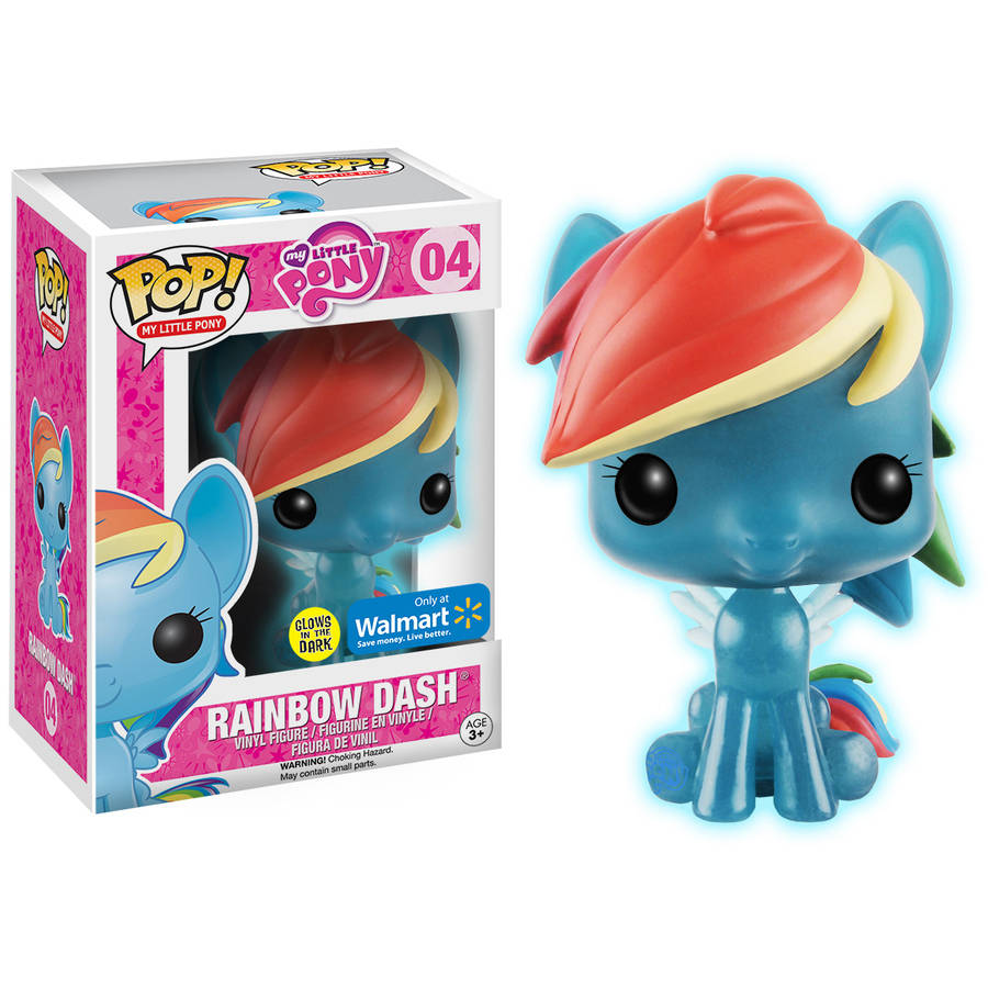 Funko POP! My Little Pony Rainbow Dash Glow-in-the-Dark Figure, Walmart Exclusive by Funko