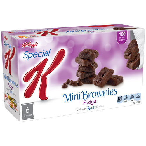 Kellogg's Special K Fudge Brownie Bites, 6 count, 4.44 oz