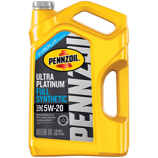 Pennzoil Ultra Platinum Full Synthetic 5W20 SN Motor Oil, 5 qt