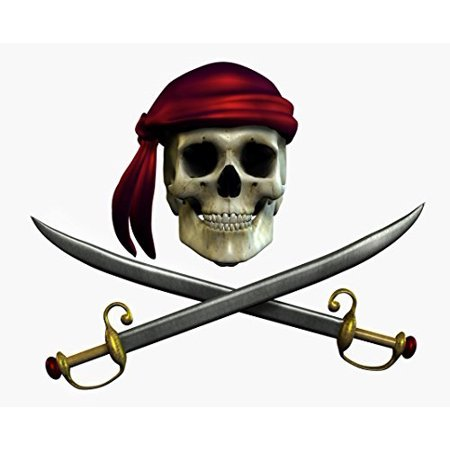 Pirate Skull & Swords Halloween - Edible Cake/Cupcake Party Topper!!! - Halloween Marijuana Edibles