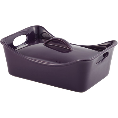 Rachael Ray 3.5-Quart Stoneware Covered Rectangular Casserole