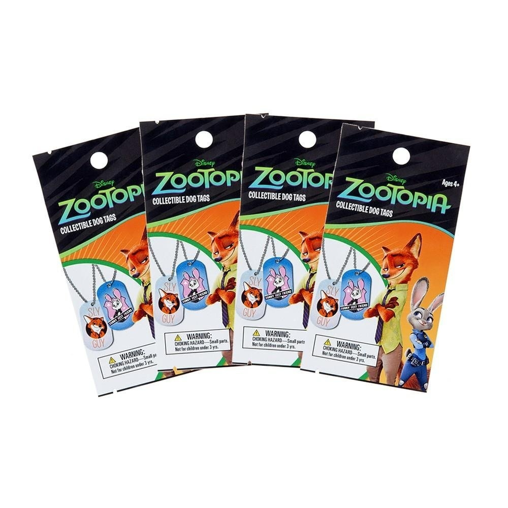 Zootopia Collectible Dog Tags 36-Pack Box (Upper Deck 2016)