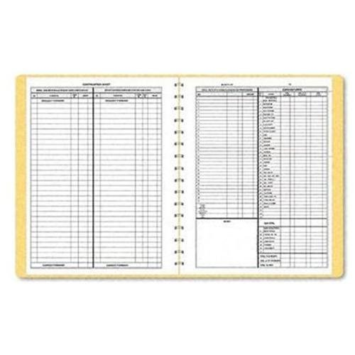 "Dome Monthly Bookkeeping Record - 128 Sheet[s] - Wire Bound - 11.25"" X 8.75"" Sheet Size - White - 1each (DOM612)"