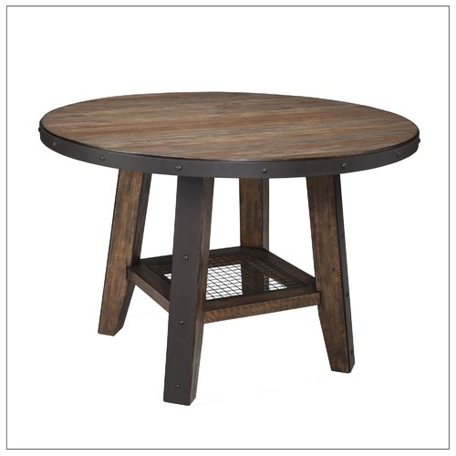 Gracie Oaks Baulch Solid Wood Dining Table