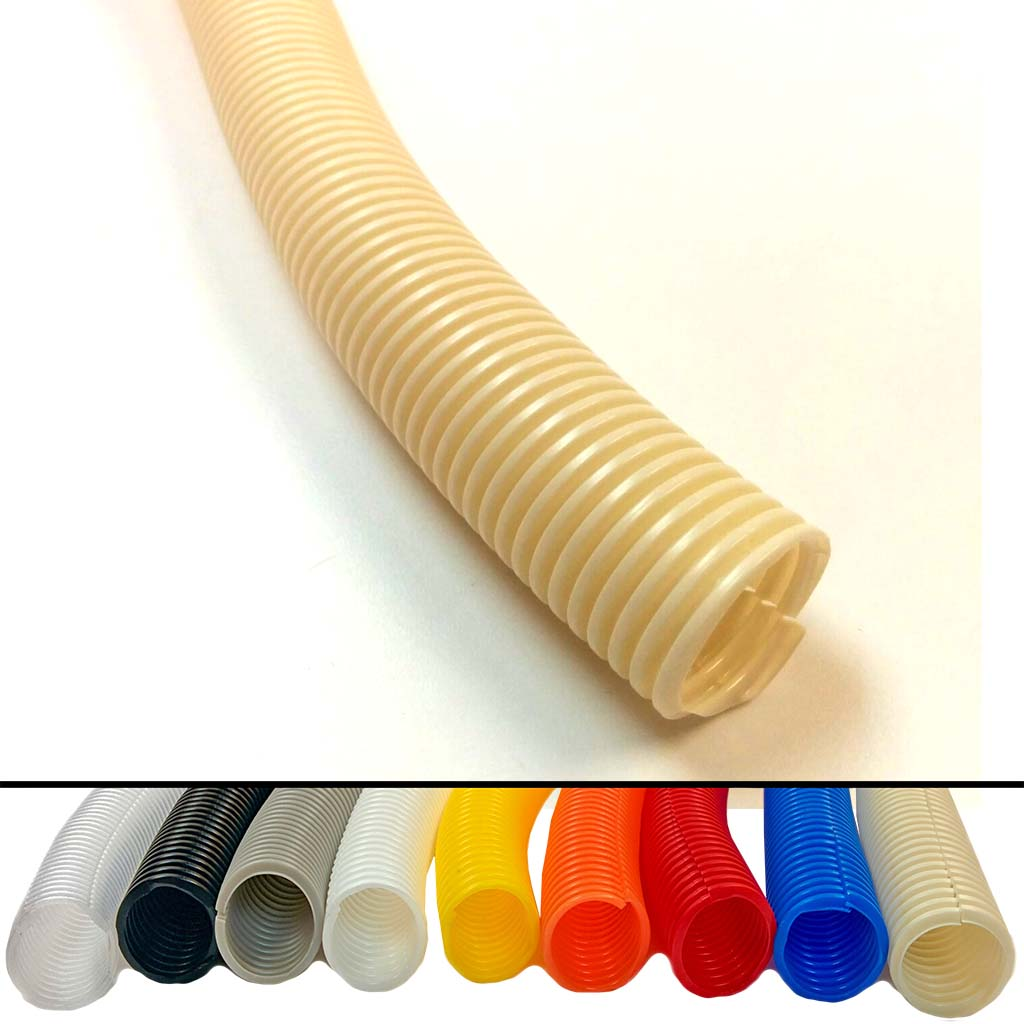 "Split Wire Loom Tubing - 1/4"" - Color : Black - 10 Feet"