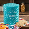 The Pioneer Woman Flea Market Dots Treat Jar, Blue