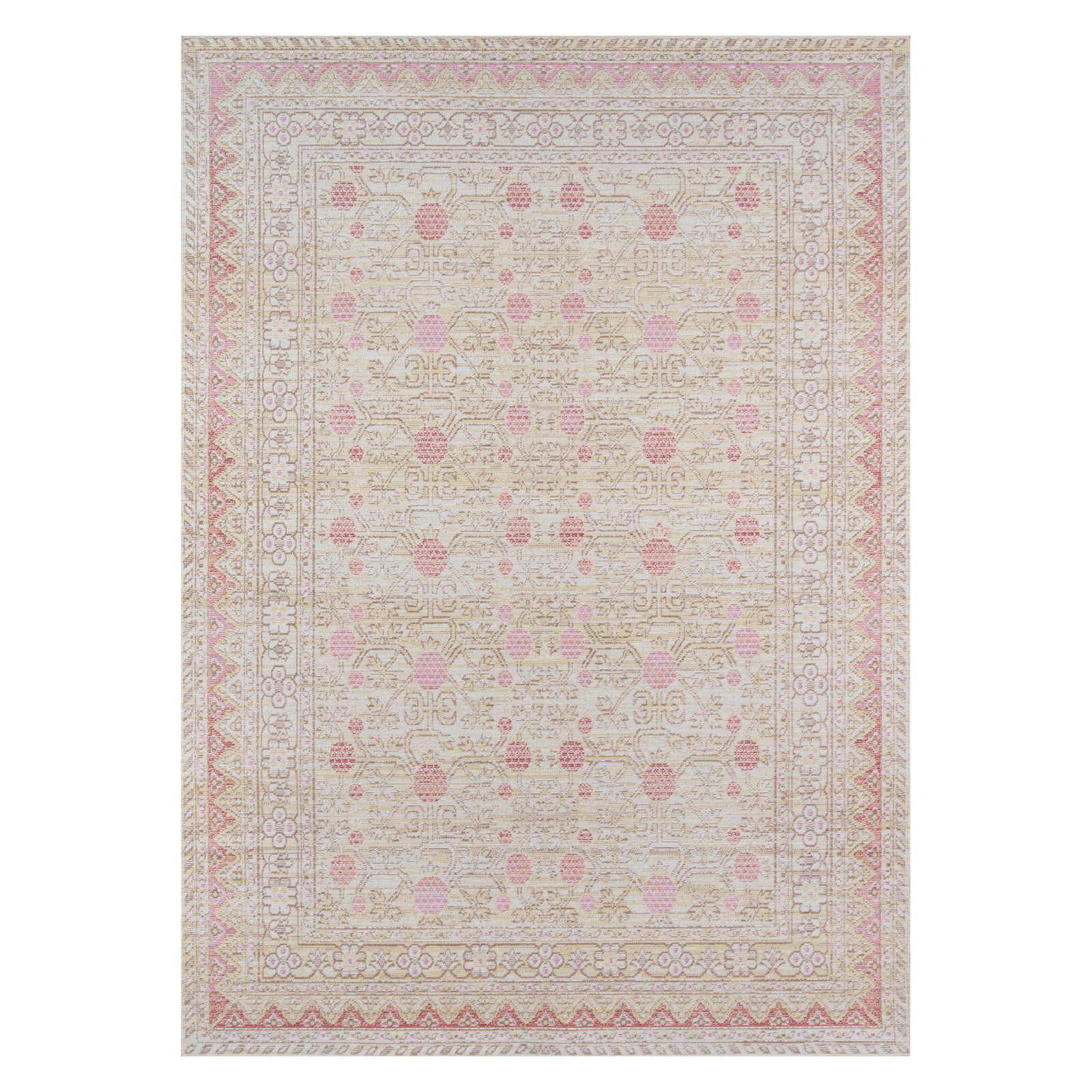 "Momeni Isabella Polyester Machine Made Pink Area Rug 7'10"" X 10'6"""
