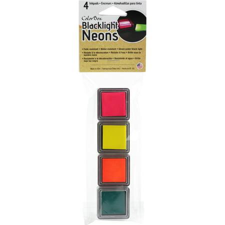 ColorBox Blacklight Neon Cube 4/Pkg-Set 2-Hot Pink, Sunny, Blazing, Jade