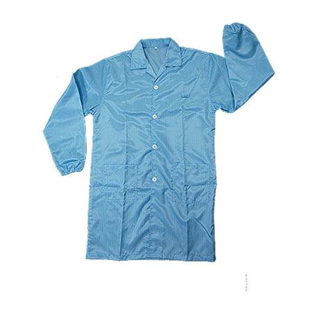 Properties Blue Staff Anti-static LAB Coat Smock Shirt Staff Lab Coat