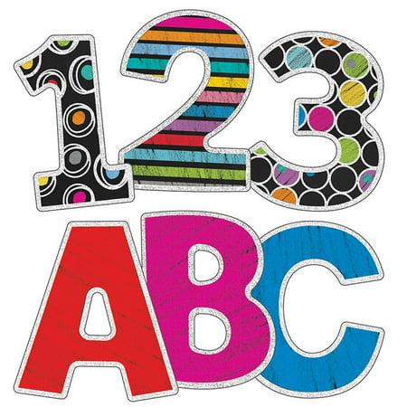 COLORFUL CHALKBOARD 3IN EZ LETTERS - Chalkboard Letters
