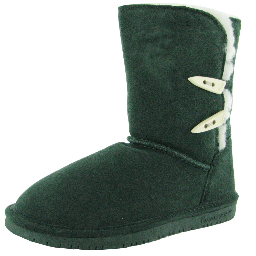 Bearpaw Womens Abigail Suede Sheepskin Boot Shoe