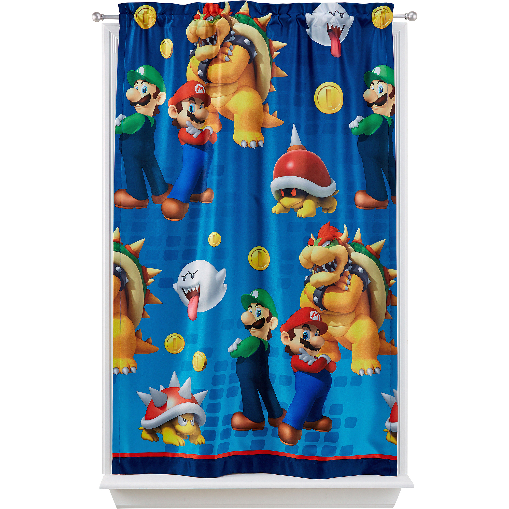 "Nickelodeon Super Mario ""Defiant Mario"" Room Darkening Curtain Panel"