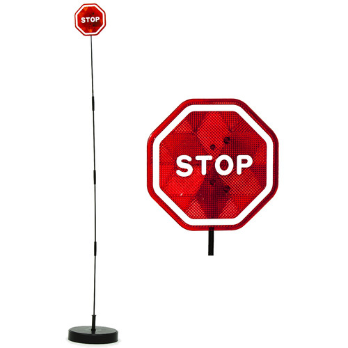 Imperial Home Parkez Flashing LED Light Parking Stop Sign for Garage