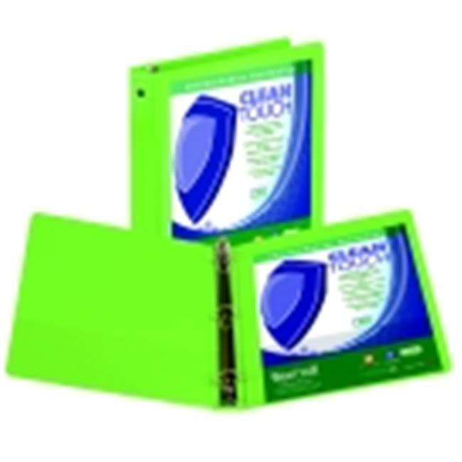 3 in. Clean Touch Polypropylene Anti-Microbial Round Ring View Binder, Lime