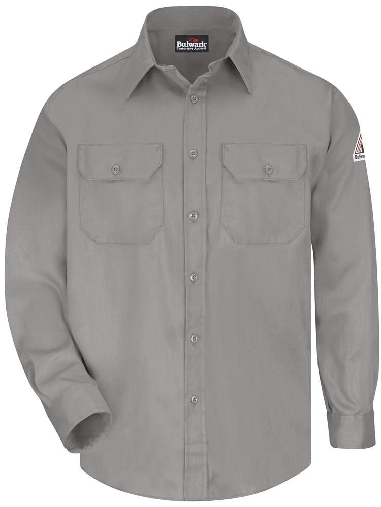 Bulwark Uniform Shirt - Long Sizes 3XL Gray