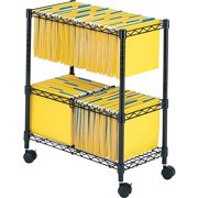 Safco, 2-Tier Rolling File Cart, 1 Each, Black