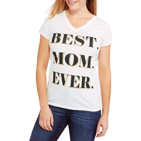 Women's Short-Sleeve Festive Mother's Day Graphic T-Shirt