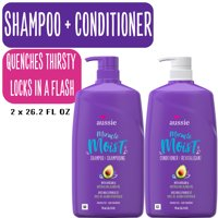 Aussie Miracle Moist Shampoo and Conditioner Hair Set, 26.2 fl oz