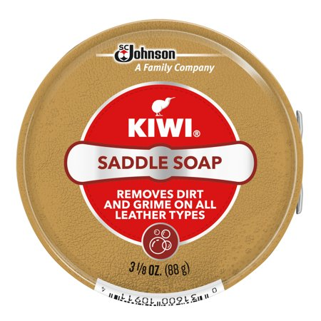 KIWI Leather Outdoor Saddle Soap 3.125 oz (Suede Desert Boot Cleaner)