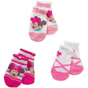 Minnie Mouse Quarter Socks, 3-Pack (Baby Girls)