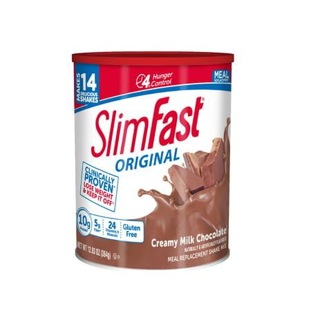 SlimFast Original Meal Replacement Shake Mix Powder, Creamy Milk Chocolate, 12.83oz, 14 - Chocolate Shake Mix