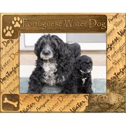 Giftworks Plus DBA0137 Portuguese Water Dog, Alder Wood Frame, 5 x 7 In