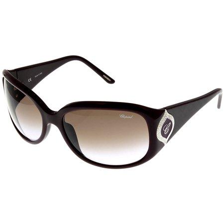 Chopard Sunglasses Shiny Plum Women SCH 091S 09FD Rectangular Size: Lens/ Bridge/ Temple: (Chopard Sunglasses For Women)