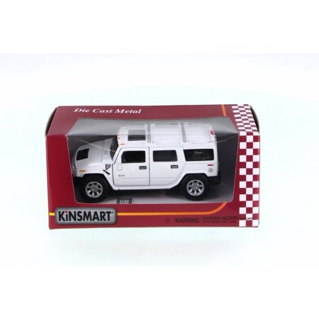 Hummer H2 SUV, White - Kinsmart 5337WW - 1/40 Scale Diecast Model Toy Car