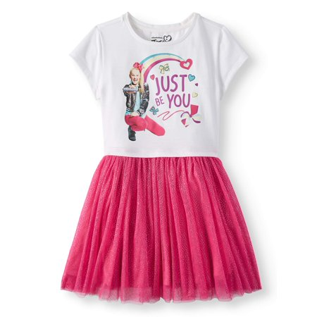 JoJo Siwa Foil Mesh Dress (Little Girls and Big Girls)](Little Girls Flapper Dress)