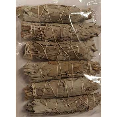 New Age Smudge Stick White Sage Clear Negativity Create Your Sacred Space By Cleansing Purification Consecration Incense Of The Ancients 6 Pack of 3