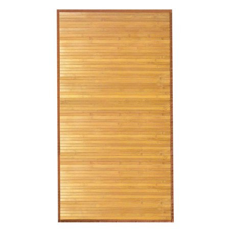 Venice Natural Bamboo Floor Mat, Natural Wood Indoor Rug, 6